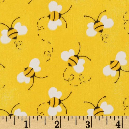 Fabric Traditions Charms Bees Fabric, Yellow, Fabric By The Yard CW-843