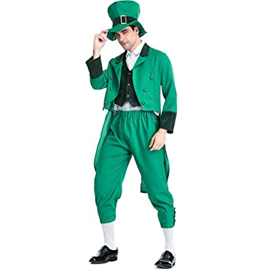 VNIUBI Traje De Duende Verde Irlandés Hombres St. Patricks ...