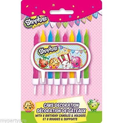 Amazon.com: Vela para tarta Shopkins Kit Decoración 9/Pkg ...