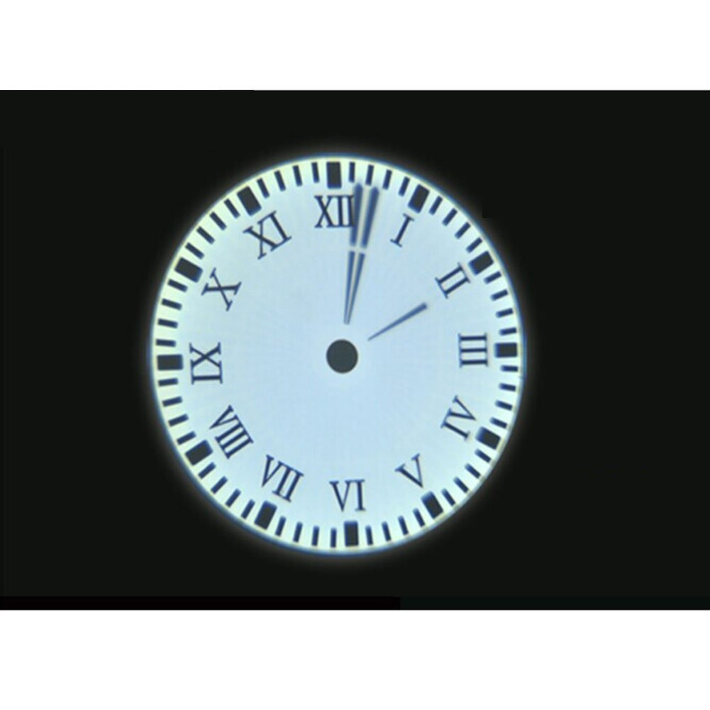 LED Colorful Projection Analog Clock Rotate 180 Degrees Standard Numeral (Roman Numeral) by Wmaot