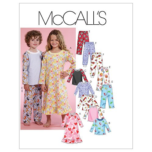 Amazon.com: McCall\'s Patterns M5965 Toddlers\'/Children\'s Gown, Tops ...