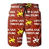 Oct USA Wrestling Logo Lined Mens Boardshorts Swim Trunks Tropical Soccer Board Shorts Bathing Swim Trunks