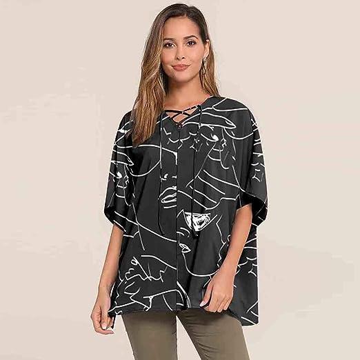 ZODOF Camisa Mujeres Blusa Casual Tops Manga Larga Camisa de ...