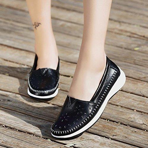 Las 2018 señoras Negro Zapatos cómodos Color Zapatos Zapatos de de Individuales Zapatos de tamaño Guisantes Guisantes Zapatos Ocasionales Verano de Mujer de Zapatos 38 Antideslizantes wXYqBO6