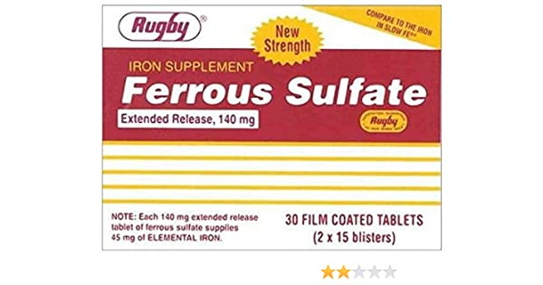 Amazon.com: Ferrous Sulfate Extended Release 140mg Tablets 30ct (Compare to Slow FE) (2 Pack): Health & Personal Care
