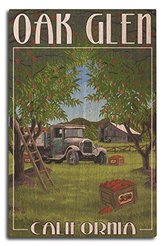 Lantern Press Oak Glen, California - Apple Orchard Harvest (10x15 Wood Wall Sign, Wall Decor Ready to Hang)