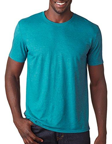 Anvil Adult Tri-Blend T-Shirt, Heather Galapogos Blue, X-Large