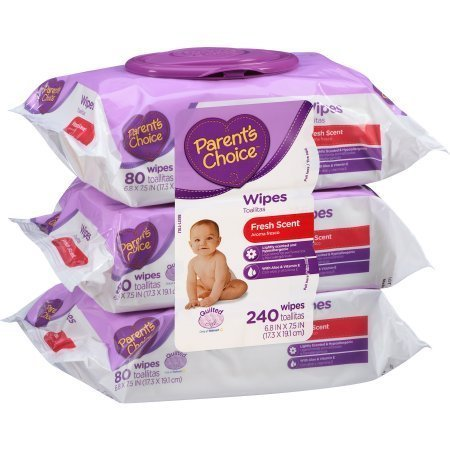 Parent's Choice - Fresh Scent Non-Flushable Baby Wipes - 240 sheets by Parent's Choice (Image #1)