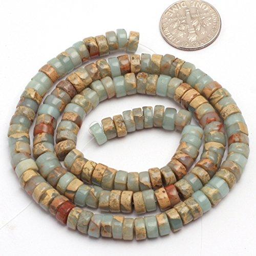 3x6mm Natural Semi Precious Rondelle Shoushan Stone Gemstone Beads for Jewelry Making Strand 15