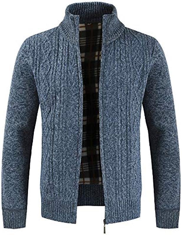 Autumn Cardigan Men Sweaters Dicker Warmer Strickpullover Męskiejacken Mäntel Męskiebekleidung Casual Style Strickwaren: Odzież