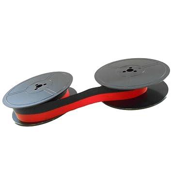 Ruban encreur noir/rouge – pour Olivetti Lettera 40 – Ruban dorigine