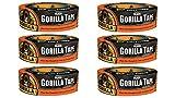 Gorilla 6035062 Duct Tape (6 Pack), 1.88'' x 35 yd, Black