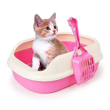 Foonee - Caja de Arena para Gatos (Base semicirculada, de poliéster, para Gatos