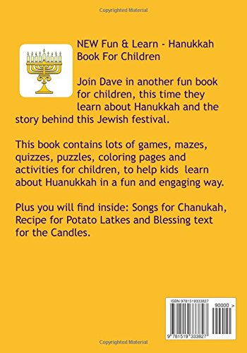 Hanukkah Fun Book For Children: Hanukiah | Dreidel | Latkes | Judah  Maccabee | Menorah | Candles | Miracle | Cruse Of Oil | Chanukah Songs:  Rachel Mintz, ...