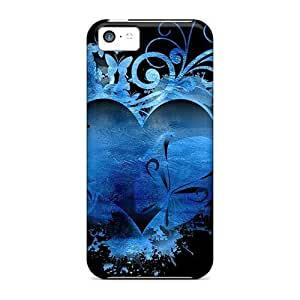 LJF phone case Fashion Protective Ocean Blue Heart Case Cover For iphone 6 4.7 inch