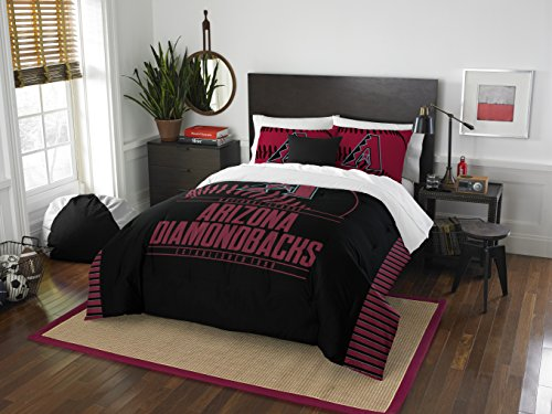 (The Northwest Company Officially Licensed MLB Arizona Diamondbacks Grandslam Full/Queen Comforter and 2 Sham Set)