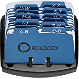 Rolodex Petite Open Tray Card File Holds 125 Cards of 2.25 x 4 Inches, Black (67060)