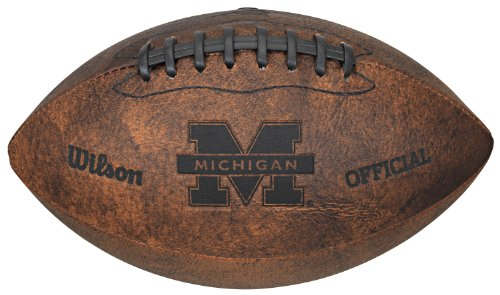 NCAA Michigan Wolverines Vintage Throwback Football, 9-Inches