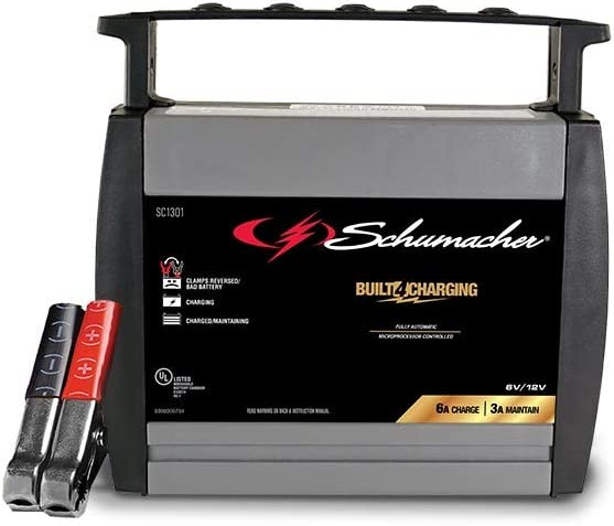 Schumacher SC1303 6//12V Fully Automatic Battery Charger and 10A Maintainer