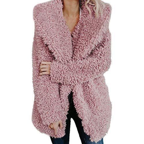 Giacca Colletto Il Lunghe Giovane Solido Unita Moda Abbigliamento Capispalla Cappotto Stand Tempo Per Da Libero Tinta Colore Rosa A Invernale Parka Warm Calda Donna Trapuntata Maniche XkZOiTPu