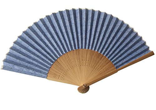 Hand Fan Bamboo Printed Pattern Folding Fan Cotton for Party Wedding Gift