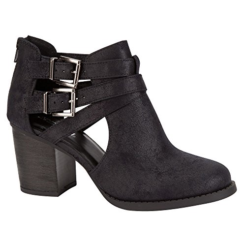 SODA Scribe Womens Booties (5.5 B(M) US, Black)