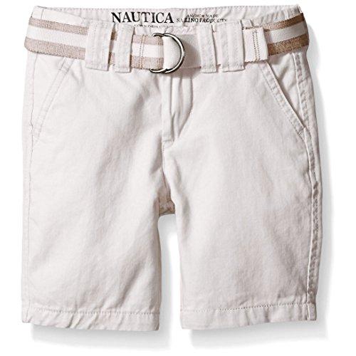 Nautica Boys 8-20 Belted Twill Short (12, White)