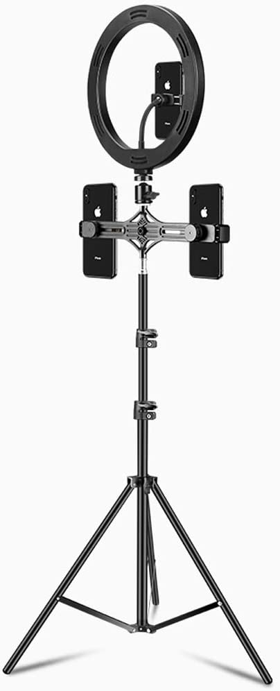 Color : 170cm Style 2 Multifunctional Fill Light with Microphone JIAX Ring Light Selfie,Floor Lamp with Adjustable Bracket,Dimmable Led Camera Ringlight 360 /° Rotating Mobile Phone Stand