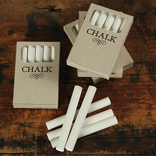 Retro Vintage Style White Chalk in Box | Bulk Pack Set 30 Sticks by My Swanky Home (Image #1)