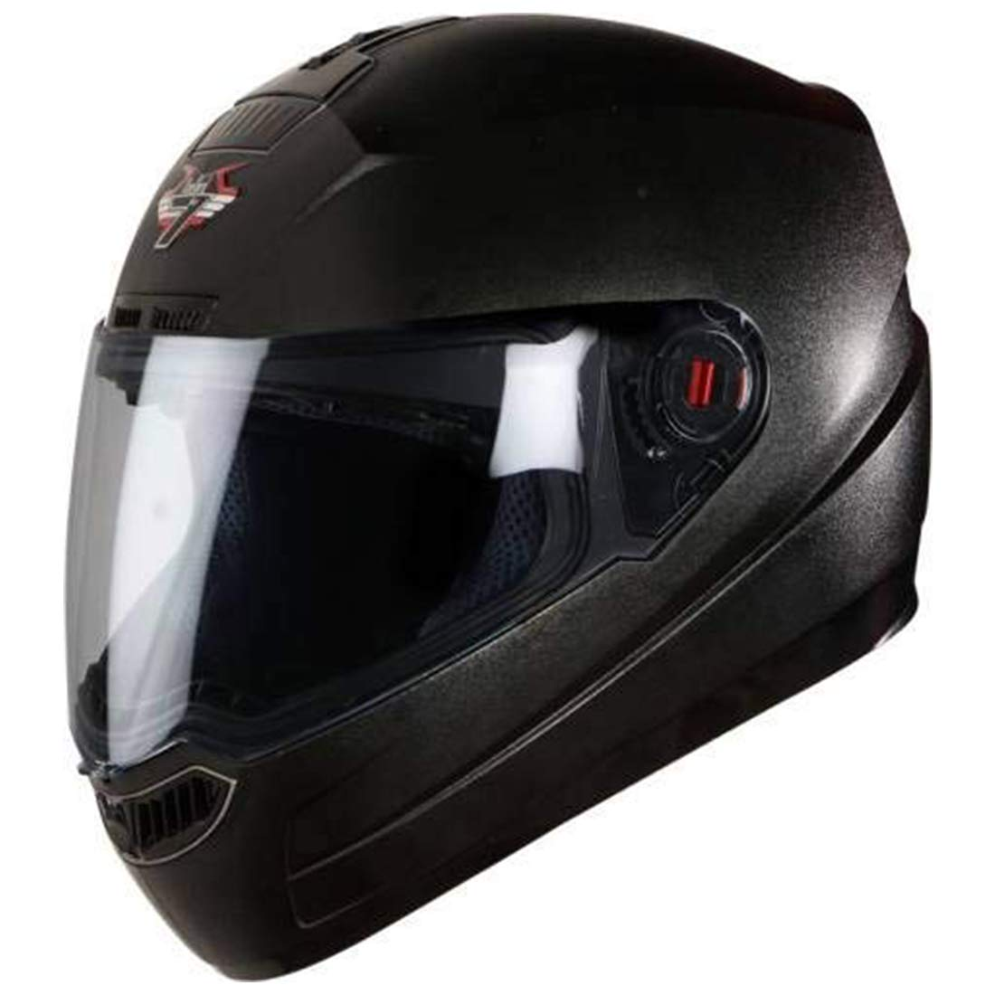 Black Color Steelbird SBA-1 Classic 7WINGS Full Face Helmet