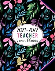 Teacher Planner July 2021-June 2022 - Pretty Colorful Branches Floral Cover: Large Weekly and Monthly Teacher Planner and Calendar | Lesson Plan Grade and Record Books for Teachers 2021-2022 Academic Year (Teacher Lesson Planner 2021-2022)