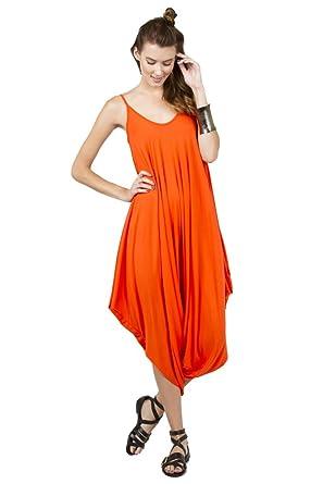 fccf5df050e Amazon.com  Love In Ladies Spaghetti Strap Loose Fit Harem Jumpsuit   Clothing