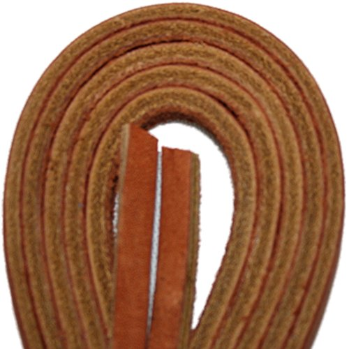 Tofl Leather Boot Laces-1 Pair Tan 72 Inches Long--Easy Sizing Cut to Fit (Tan)