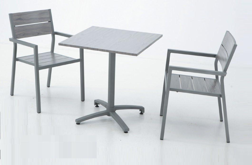 Conjunto aluminio lamas mesa plegable suez 70x70: Amazon.es: Jardín