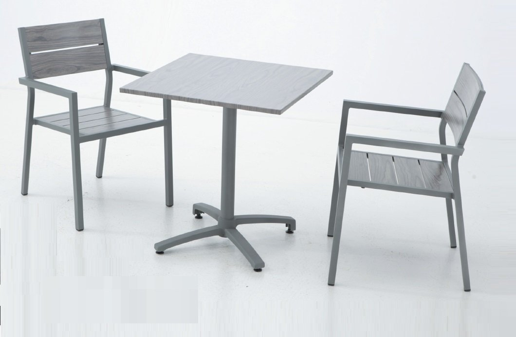 Conjunto aluminio lamas mesa plegable suez 70x70: Amazon.es ...