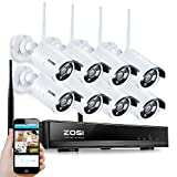 ZOSI 8 Channel 960p AUTO-PAIR WIRELESS SYSTEM 8CH 960P NVR with 8x 1.3P 960P HD Wireless Security IP Camera System (Auto-Pair, Built-in Router, 1.3MP Camera, No hard disk) For Sale