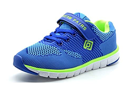 08. Dream Pairs 151054 New Kids Boys & Girls Sports Casual Trainers Flat Strap Light Weight Running Sneakers (Toddler/Little Kid/Big Kid)