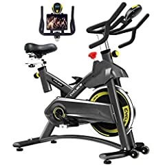 Indoor Exercise Bike Stationary Cycling Bike - Cardio Bike with Monitor and Phone Holder for Home Exercise