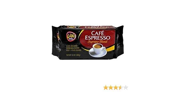 Amazon.com : Vida Mia Cafe Espresso : Ground Coffee : Grocery & Gourmet Food
