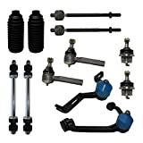 Detroit Axle - Complete 12-Piece Front Suspension Kit Ford Explorer - 10-Year Warranty - 2-Piece Design Upper Control Arms & Ball Joint, 2 Lower Ball Joints - Torsion Bar Suspension Models Only......