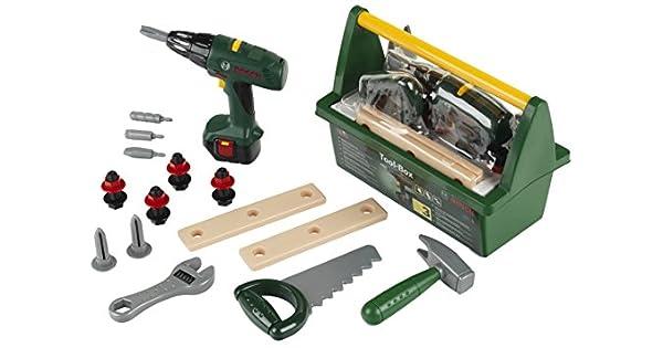 Amazon.com: Theo Klein Bosch juguete caja de herramientas ...