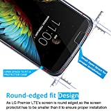 [2 Pack] iVoler [Tempered Glass] Screen Protector for LG Premier LTE / LG K10, [0.2mm Ultra Thin 9H Hardness 2.5D Round Edge] with Lifetime Replacement Warranty