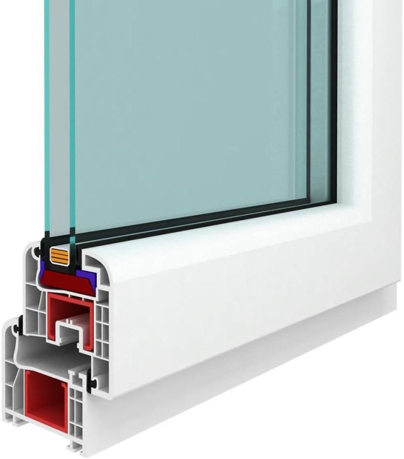 Ventana PVC oscilobatiente con manilla en la derecha 800 x 400 mm: Amazon.es: Bricolaje y herramientas
