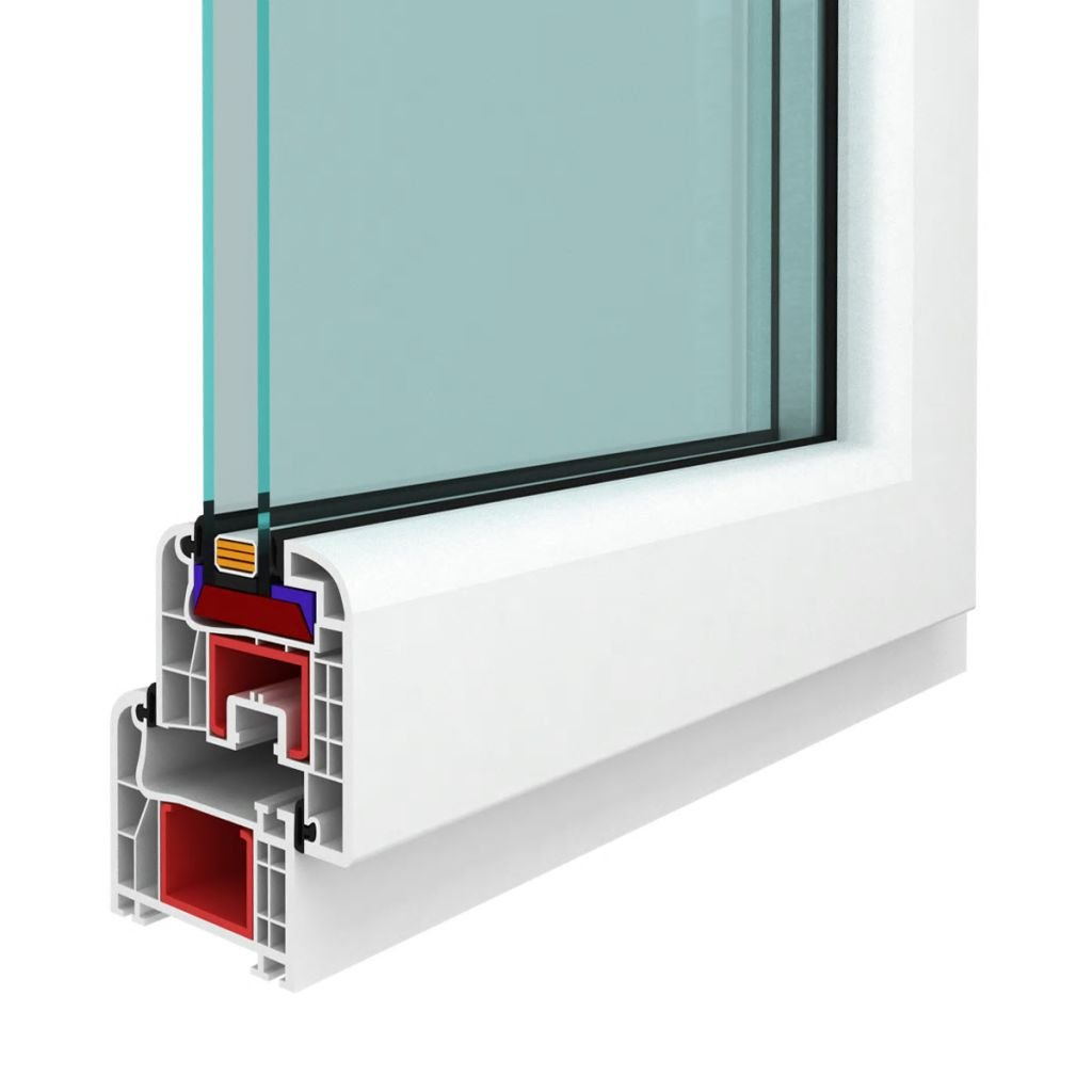 vidaXL Anta Ribalta Manico a Destra con Doppi Vetri 1200 x 600 mm Finestra PVC
