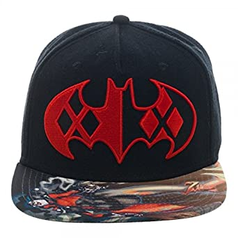 huge discount 2f0b1 9f4d3 Image Unavailable. Image not available for. Color  Baseball Cap - Batman - Harley  Quinn Sublimated Bill Snapback Hat ...