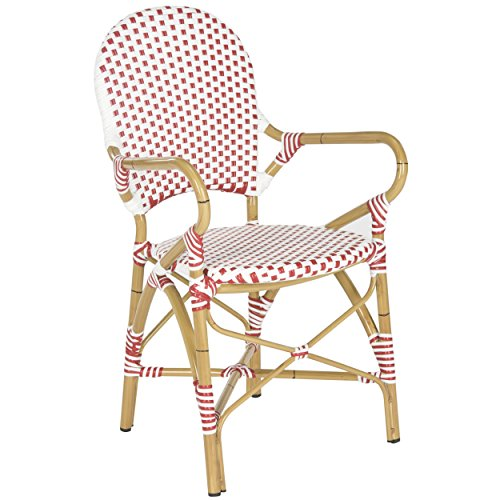 Safavieh Home Collection Hooper Red & White Indoor-Outdoor Stacking Arm Chair by Safavieh (Image #2)