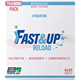 Fast&Up Reload Electrolyte Instant Hydration Sports Drink - Berry (4x20Tablets)