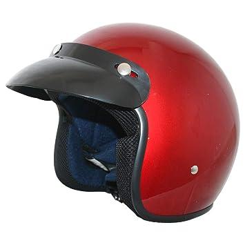 - Motorcycle ECE 2205 Approved Leopard LEO-604 Open Face Motorbike Helmet 57-58cm Black M