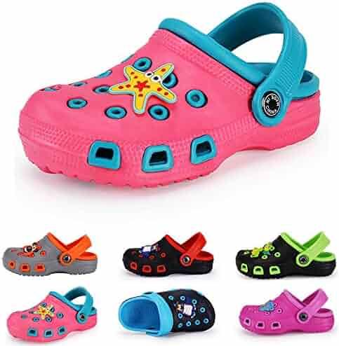 a7b1cce2e30e Kid s Boy Girl Cute Garden Shoes Cartoon Toddler Infant Summer Sandals Clogs  with Backstrap Children Beach