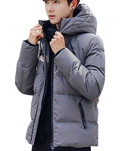 キルス火星ミュージカルAeneontrue メンズ ダウンコート 無地 長袖 中綿入り コート フード付き 厚手 ダウンジャケット トップス 大きいサイズ 防寒防風 通学通勤 アウター 3色展開